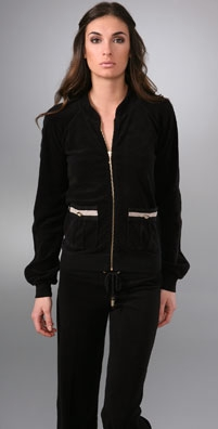 Juicy Couture Gabrielle Terry Baseball Jacket