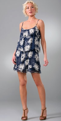 Juicy Couture Delightful Dahlias Tiered Ruffle Dress