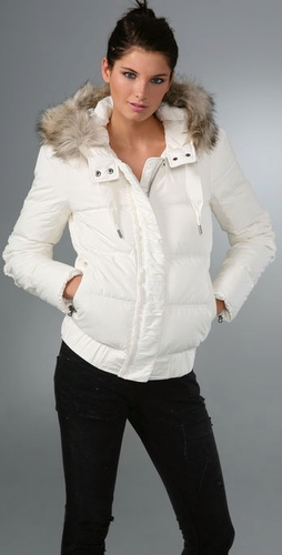 Juicy Couture Long Sleeve Ruffle Puffa Jacket