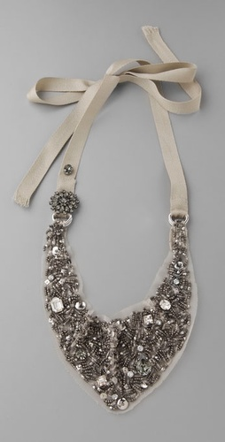 Juicy Couture Sequin Drama Bib Necklace