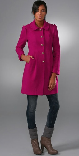 Juicy Couture Long Sleeve Michelle Wool Coat