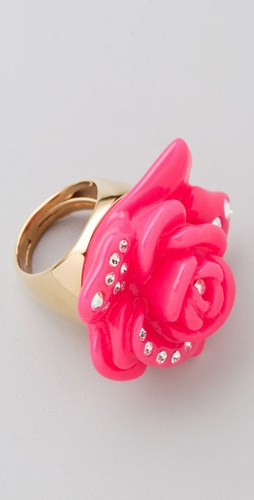 Juicy Couture Pave Rose Ring