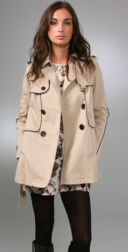 Juicy Couture - Skylar Twill Trench Coat from shopbop.com