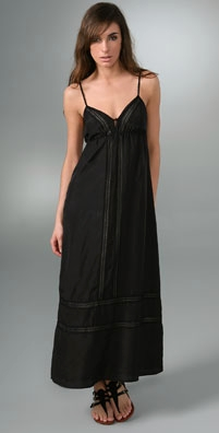Karta Long Dress with Lace Detail