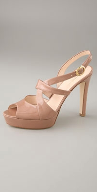Katia Lombardo Platform Open Toe Twisted High Heel Sand - shopbop.com from shopbop.com