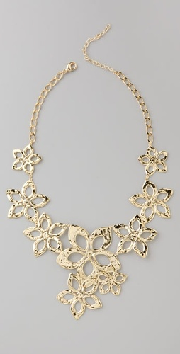 Lee Angel Jewelry Anouk Floral Bib Necklace
