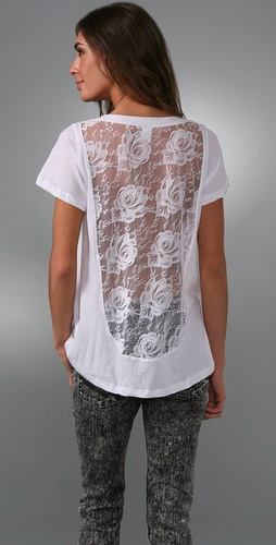 LNA Lace Back Tee