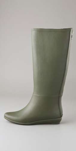 Loeffler Randall Back Zip Rubber Rain Boots