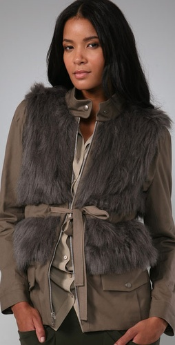 Loeffler Randall Faux Fur Military Jacket from shopbop.com