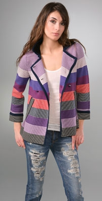 Marc by Marc Jacobs Maggie Striped Sweater Jacket