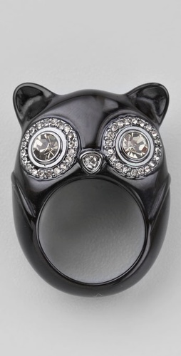 Marc by Marc Jacobs Faux Fancy Owl Ring