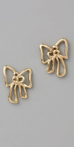 Marc by Marc Jacobs Metal Bow Stud Earrings from shopbop.com