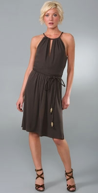 Milly Keyhole Halter Dress