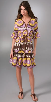 Milly Ikat Carnival Bell Sleeve Dress