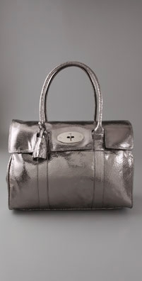 Mulberry Bayswater Crackled Metallic Tote