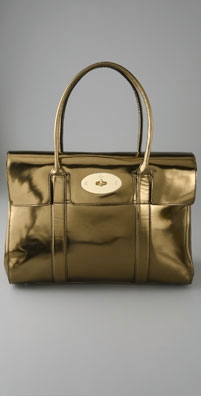 Mulberry Bayswater Mirror Metallic Tote