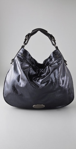 Mulberry Cracked Metallic Mitzy Hobo