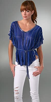 MLH Draped Top with Beaded Belt from shopbop.com