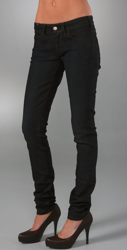 Skinny jeans with long inseams