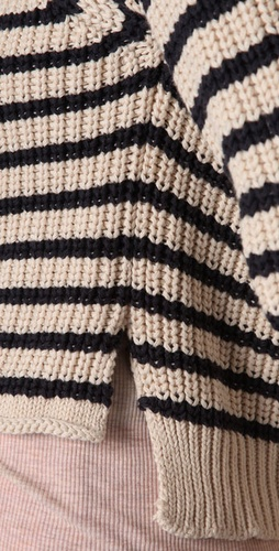 Patterson J. Kincaid Melinda Striped Cropped Sweater