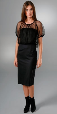Ports 1961 Dress with Tulle Blouson