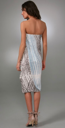 Rachel Roy Drape Front Strapless Dress