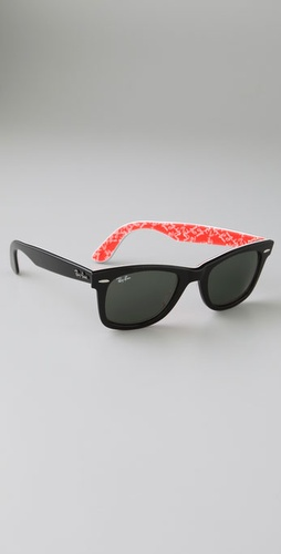 ray ban wayfarer red and black. ray ban wayfarer black red.