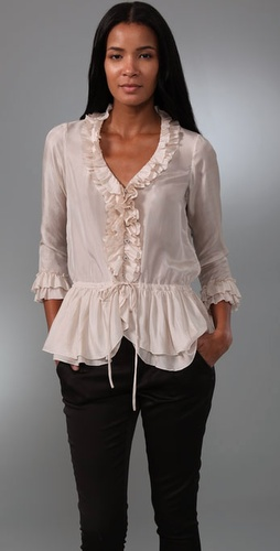 Rebecca Taylor All Ruffled Blouse