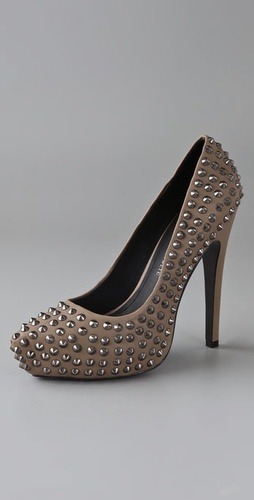 Rock & Republic Chickory Studded Platform Pumps