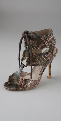 Sergio Rossi Grace Lace Up Gladiator Sandals