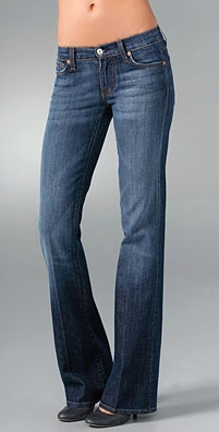7 For All Mankind Long Boot Cut Stretch Jean
