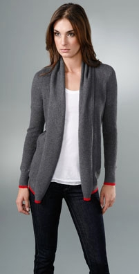 Splendid Thermal Stripe Cardigan