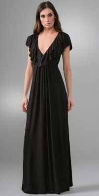 T-Bags Maxi Dress with Ruffle