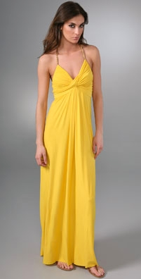 T-Bags Long Dress with Rope Detail