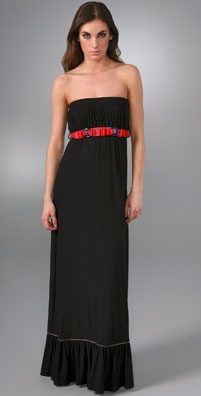 T-Bags Strapless Long Dress