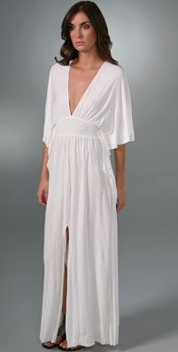 T-Bags Drape Sleeve Long Dress