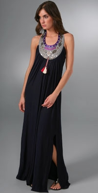 T-Bags Necklace Long Dress