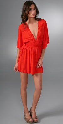 T-Bags Drape Sleeve Mini Dress