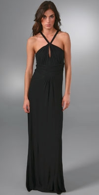 T-Bags Halter Long Dress