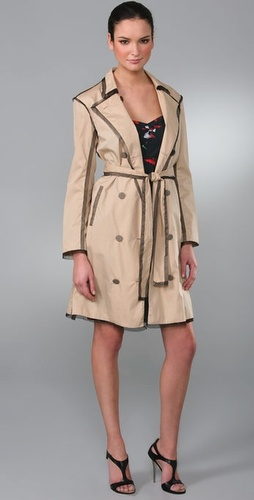 Thakoon Tulle Edge Trench Coat