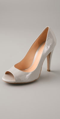 Theory Mariel Patent Open Toe Pump