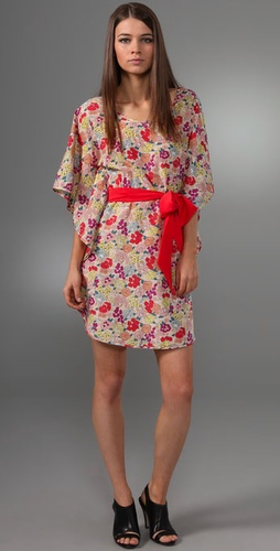 Thread Social Floral Dress with Sash