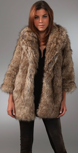 Burning Torch Faux Fur Jacket from shopbop.com