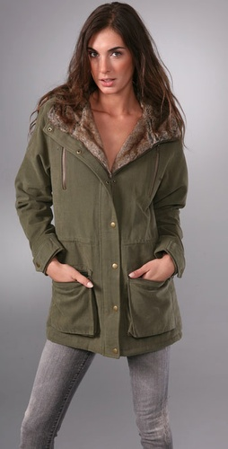 Torn by Ronny Kobo Laura Parka with Faux Fur