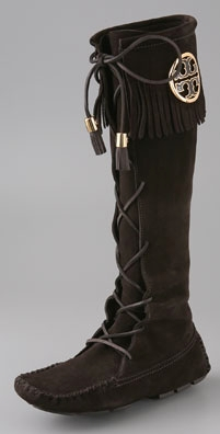 Tory Burch Walker Fringe Lace Up Boot
