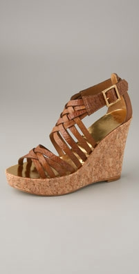 Tory Burch Annamarte Cork Wedge Sandal