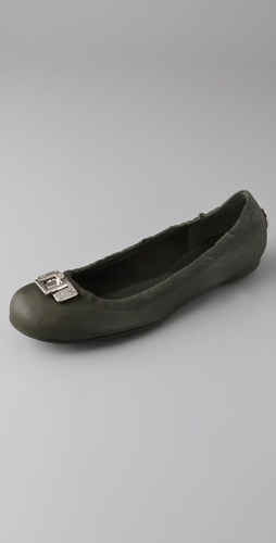 Tory Burch Elena Ballet Flats with Lock Logo