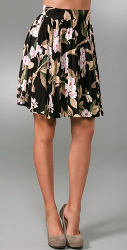 Tucker Short Pleated Skirt