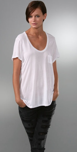 T by Alexander Wang Classic T-Shirt with Pocket
