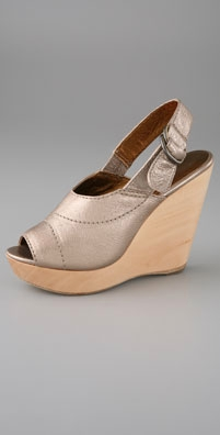 Twelfth St. by Cynthia Vincent Lark Open Toe Sling Back Wedge - shopbop.com from shopbop.com